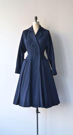 Granville coat 1950s princess coat vintage 50s fit by DearGolden