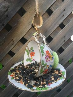 Items similar to Floral Aynsley Teacup Bird Feeder with Niagara Falls Souvenir Spoon, tea cup bird feeder, bird feeder, Anysley teacup, garden decor on Etsy Perfect Gift For Her, Garden Ornaments, Upcycled Vintage, Teacup, Bird Feeders, Gifts For Mom, Spoon, Etsy Shop, Decoration