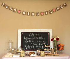 Bridal Shower Dessert Table Pinterest  #bridal #shower #dessert #table #wedding #ideas