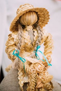 Stock image of 'Belarusian Straw Doll. Straw Dolls Are Most Popular Souvenirs From Belarus.'