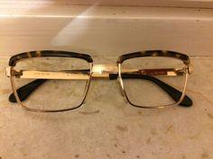 d716ec70922 Browline glasses frame Hipster 1950 gold plated by inlove4vintage Mens Glasses  Frames