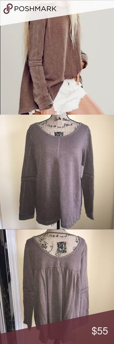 Free People Brown Heat Sweater Free People Brown Heat sweater. Oversized. NWT Free People Sweaters Crew & Scoop Necks