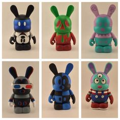 Bunny Mold versions of classic vinylmation designs