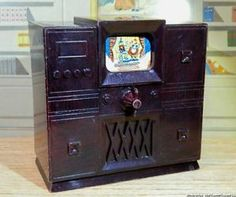 Vintage Dollhouse Television with Rotating Screen Renwal Ideal Marx Furniture | eBay