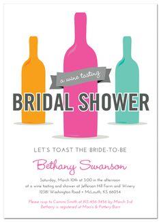 Wine Tasting Bridal Shower Invitation http://www.papersnaps.com/party/party-invitations/bridal-shower-invitations/wine-tasting-bridal-shower-invitation.html