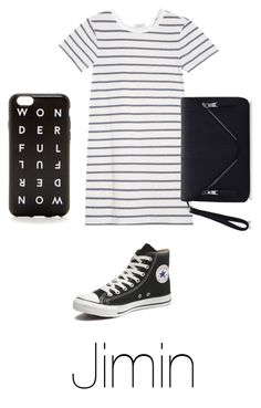"""""""Proposal date with Jimin"""" by bts-outfit-imagines on Polyvore featuring Clu, Converse, women's clothing, women, female, woman, misses and juniors"""
