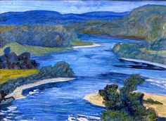 Helmer Osslund 1866-1938. Nordic River Landscape