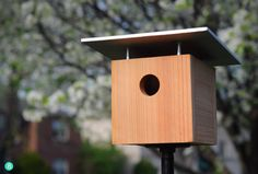 12 Stylish and Easy DIY Birdhouses and Feeders » Curbly | DIY Design Community