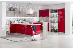 Iris Chilli lakovaná vysoký lesk / Iris Chilli high gloss High Gloss, Iris, Divider, Table, Room, Furniture, Home Decor, Design, Kitchens