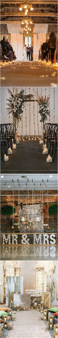 industrial rustic country wedding ceremony backdrop ideas #weddings #weddingideas #countryweddings #weddingarches