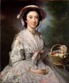 ▴ Artistic Accessories ▴ clothes, jewelry, hats in art - George Knapton | Portrait of Lucy Ebberton, 1745-50