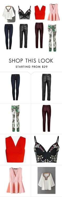 """""""ensembles pour morphologie en 8"""" by nabucho on Polyvore featuring J Brand, Topshop Unique, Just Cavalli, Gucci, A.L.C., Glamorous, WithChic, women's clothing, women and female"""