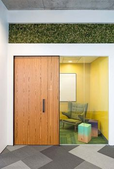 Create semi- private spaces; use glass so that one can tell if they are occupied or vacant