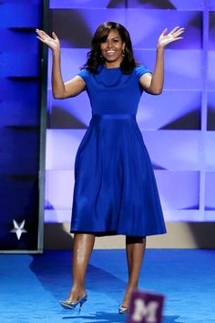 """""""When they go low, we go high."""" The FLOTUS Dress: Christian Siriano"""