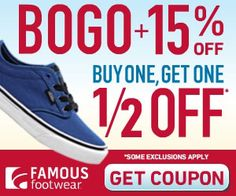 Famous Footwear Printable Coupon Bogo 50% Off + Save Up to 20% ~ Offer Ends 9/7! ~