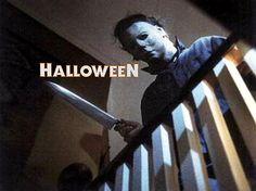 "HALLOWEEN's ""The Shape"" aka Michael Meyers - a William Shatner mask and a butcher knife make slasher film history. #halloween"