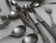 Jan Groover Still Life Photography | Untitled (Still-life with silverware)