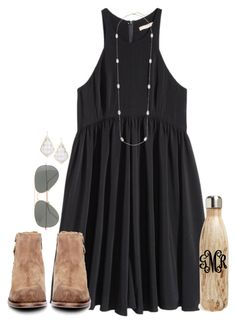 """you think you know people"" by conleighh ❤ liked on Polyvore featuring H&M, H by Hudson, S'well, J.Crew and Kendra Scott"