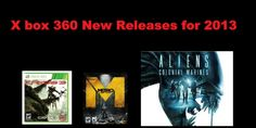 X box 360 Upcoming Releases for 2013