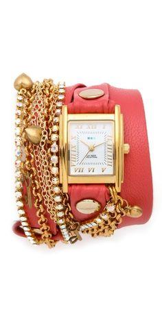 La Mer Collections Tokyo Crystal Wrap Watch