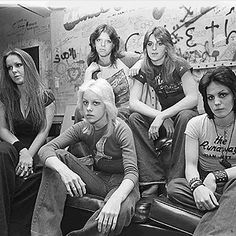 The Runaways, one of the first all girl rock bands in the 70's to really make a difference in the music industry. The idea of girls holding electric guitars used to be laughed at.