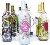 hand painted bottles