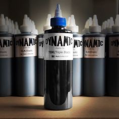 Dynamic Triple Black has the same ingredients as the original but with a higher pigment content. Triple Black, Solid Black, Rotary Tattoo Machine, Tattoo Shop, Tattoo Ink, Fusion Ink, Sumi Ink, Tattoo Needles, Black Ink Tattoos