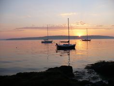 Boothbay Harbor at sunset (photo credit ~ Dianne McLaughlin)