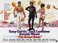 Classic Movies Photo: Tony Curtis, Natalie Wood & Jack Lemmon - The Great Race - 1965 Vivian Vance, Peter Falk, Jack Lemmon, Tony Curtis, 1960s Movies, Vintage Movies, Natalie Wood, Cinema Posters, Film Posters