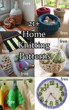 Knitting Patterns for the home, kitchen, bath, garden and more. Many free knitting patterns