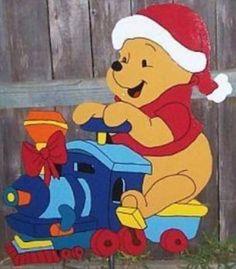 Touch of Heaven Yard Art, pooh Christmas Christmas Yard Art, Christmas Yard Decorations, Christmas Wood, Disney Christmas, Christmas Projects, Holiday Crafts, Wood Yard Art, Winnie The Pooh Christmas, Christmas Wonderland