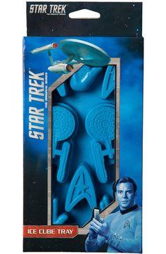 Star Trek Ice Cube Tray: Non 80s TV Star Trek Ice Cube Trays