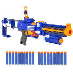 "Amazon.com: Best Choice Products 20"" Foam Bullet Blaster Toy Gun, Long Distance Shooing Range, 20 Darts Included: Toys & Games"