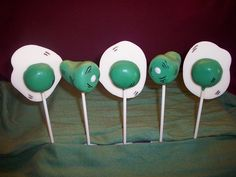 Green Eggs and Ham cake pops for Dr. Seuss' birthday treat
