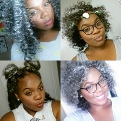 Crochet Braids Grey Hair : this crochet braids style .. the gray gives it flavor crochet braids ...