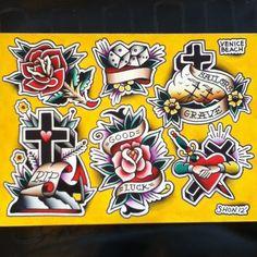 cross tattoo old school - Buscar con Google