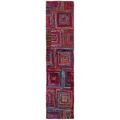 Liven up your favorite living areas with this fun and chic hand-woven Brilliant Ribbon Blocks rug runner. This rug is made of all natural cotton ribbon that is comfortable and soft underfoot and it features a durable cotton backing.