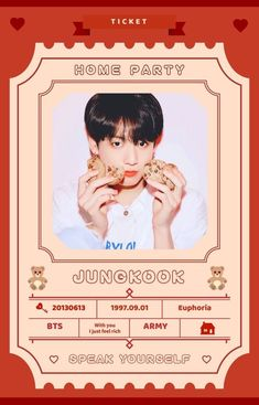 Bts home parties - home parties decorations, home parties ideas, home Bts Tickets, Party Tickets, Exo Stickers, Printable Stickers, Luggage Stickers, Bts Home Party, House Party, Kookie Bts, Jungkook Fanart