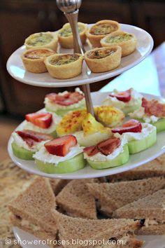 mother daughter tea party ideas | Three Cheese Mini Quiche ~ Spinach Mini Quiche
