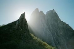 Morning sun.  Climbing at Potrero Chico, Mexico.  From my trip back in 2002.  (photo by cliffmama).