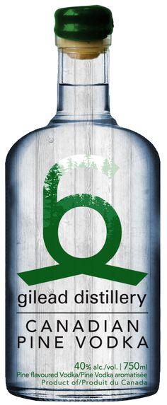 66 Gilead Distillery - Canadian Pine Vodka. Perhaps tastes like Retsina but I love the bottle #packaging PD