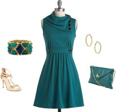 """""""Teal Beauty"""" by lislyn ❤ liked on Polyvore"""