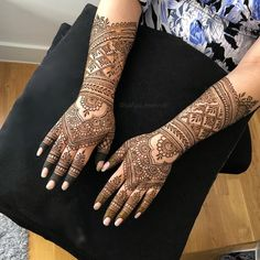 Bridal Mehndi or Henna Designs for Full Hands Modern Mehndi Designs, Bridal Henna Designs, Mehndi Design Photos, Dulhan Mehndi Designs, Bridal Mehndi, Best Mehndi, Henna Mehndi, Mehendi, Full Hand Mehndi