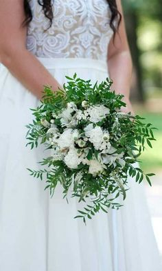 Fantastic Pics Wedding Bouquets greenery Suggestions That might appear to be a smaller decision at the beginning, but making a new floral go shopping will have a b. Lily Bouquet Wedding, Simple Wedding Bouquets, Wedding Ceremony Flowers, Bridesmaid Bouquet, Bridal Bouquets, Bridal Flowers, Red And White Weddings, Greenery, Wedding Ideas