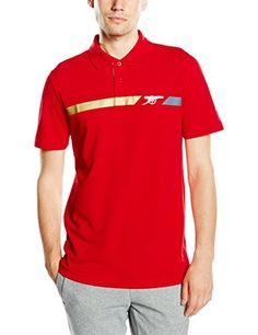 buy now Arsenal Cannon Fan Polo Shirt - Red 2015 2016 - CottonPumaRed 4b7b74bc1