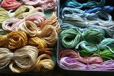 hand dyed embroidery thread tutorial  so pretty~