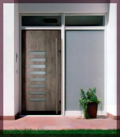 Espléndida Puerta de Aluminio de Exterior.