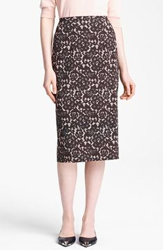Michael Kors Guipure Print Stretch Cady Pencil Skirt | Nordstrom