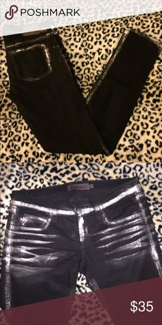 Frankie B jeggings Stylish black jeggings by Frankie B. Low rise. Worn but in good condition. Frankie B. Jeans Skinny