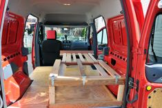 Ford Transit Connect Conversion: Bed, Fridge and Water Storage Cabinet – New England Trail Dogs Ford Transit Connect Camper, Ford Transit Camper, Sports Cars For Sale, Water Storage, Small Cars, Bed Styling, Van Life, Storage Spaces, Conversation